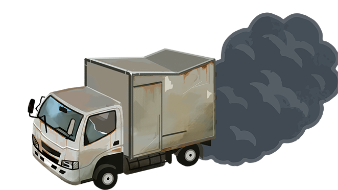 黒煙トラック